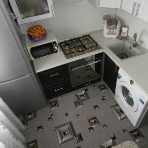 Кухня маленькая Ваниль