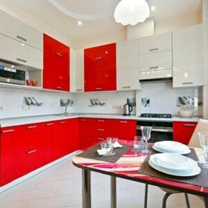 Кухня красная Спринг