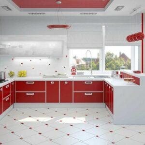 Кухня красная Эвелин