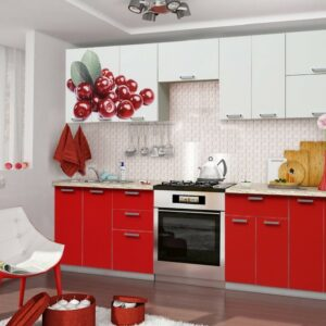 Кухня красная Кейс