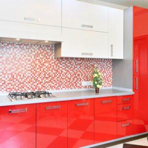 кухня красная Нокс