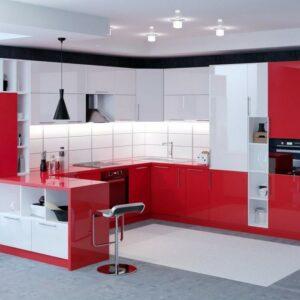 Кухня красная Беверли