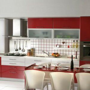 Кухня красная Кэтти