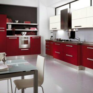 Кухня красная Оксфорд