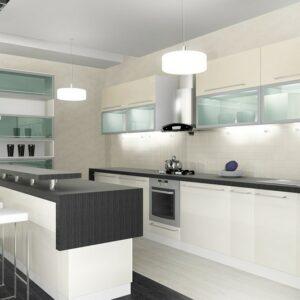 Кухня белая Брерра