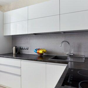 Кухня белая Плаза
