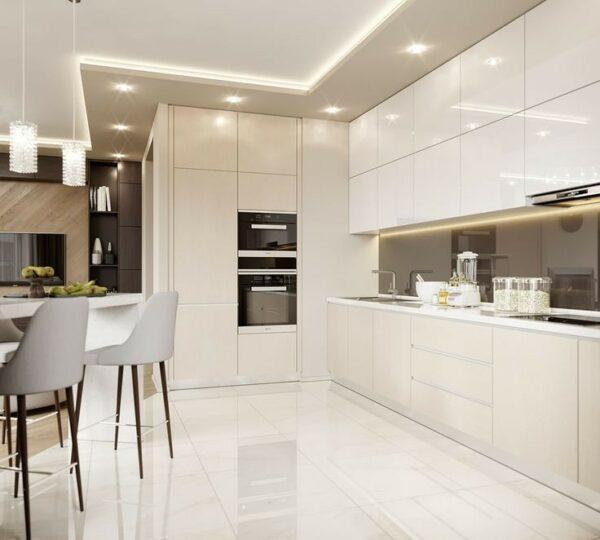 Кухня белая Эмпайр