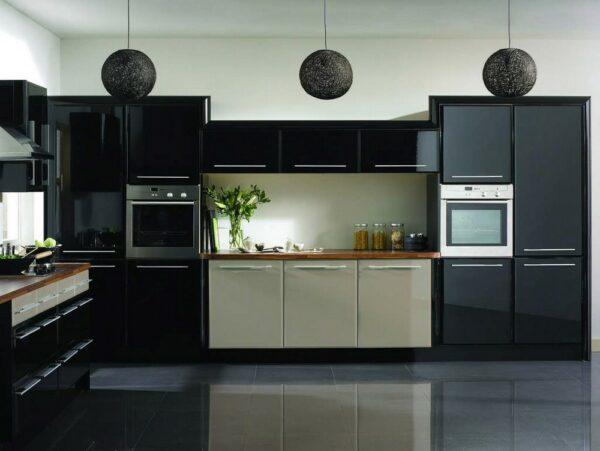 Кухня черная Бруклин