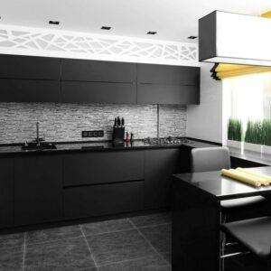 """Кухня черная Морэн"""""""