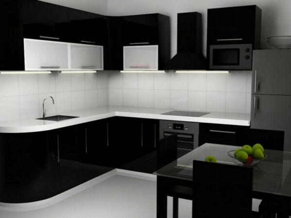 Кухня черная Джоанн