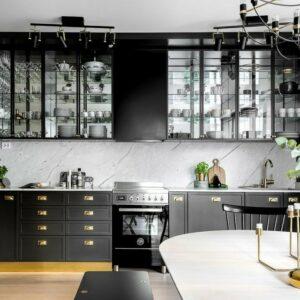 Кухня черная Боннет