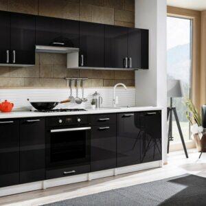 Кухня черная Айяно