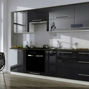 Кухня черная Грейн
