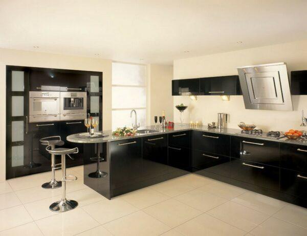 """Кухня черная Денидо"""""""