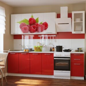 Кухня красная Дженифер