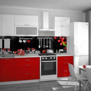 Кухня красная Грант