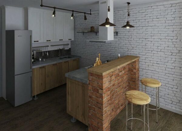 Кухня лофт Сибирь