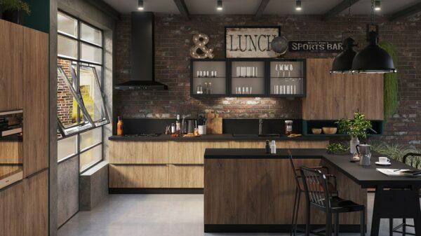 Кухня лофт Мангус