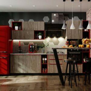 Кухня лофт Гринвич