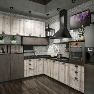 Кухня лофт Ливерпуль