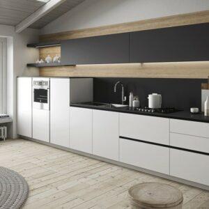 Кухня белая Ольза