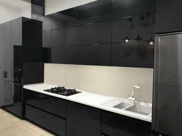 Кухня черная Вуди