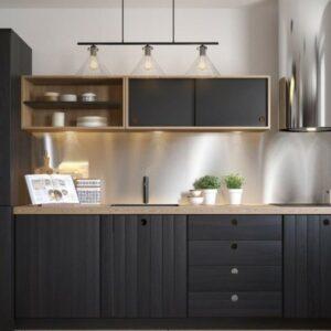 Кухня черная Леонора