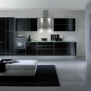 Кухня черная Стелла