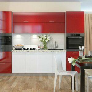 Кухня красная Хокс