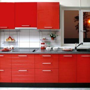 Кухня красная Бари