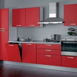 Кухня красная Глосс