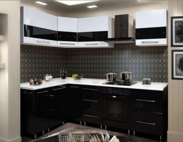 Кухня черная Аделия