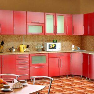 Кухня красная Джудит