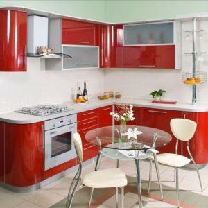 Кухня красная Гильда